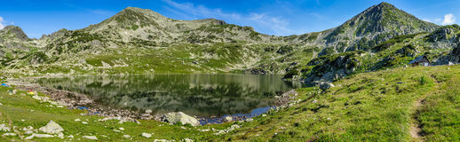 Hi-res panorama of Bucura lake in Retezat Royalty Free Stock Photo