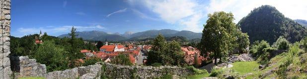 Hi res panorama Kamnik. Hi res panorama of old town Kamnik Stock Photography