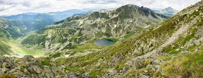 Hi-res panorama of Retezat Mountains, Romania Stock Photography