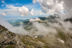 Hi-res panorama of Retezat Mountains, Romania Royalty Free Stock Images