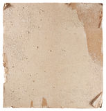 Hi-res plasterboard texture. Dirty damaged plasterboard isolated on white Stock Photography