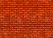 Hi-res red brick wall pattern vector illustration