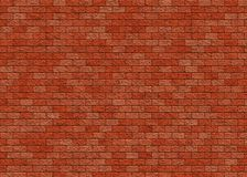 Hi-res red brick wall pattern Royalty Free Stock Photo