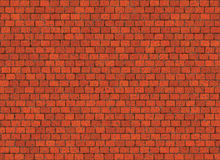 Hi-res red small brick wall pattern Stock Images