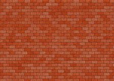 Hi-res red small brick wall pattern Royalty Free Stock Photography