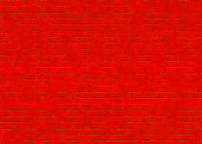 Hi-res saturated red small brick wall pattern Stock Images