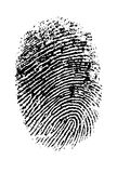 Hi Res Thumbprint. Single black Thumbprint - simple monochrome image Stock Image