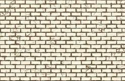 Hi-res white brick wall pattern stock illustration