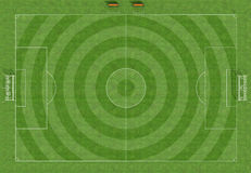 Hi resolution of a soccer field Stock Images