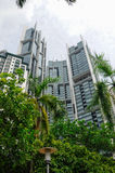 Hi-rise building façade Stock Images