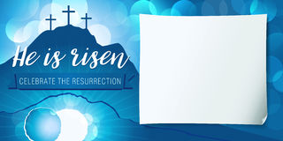 Hi is risen holy week poster Stock Photography