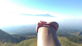 Hi Semeru. I take this foto when evacuation at Mt. Arjuno. Meet survivor and saved him royalty free stock images