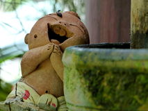 Hi smile. Hello smile of terracotta statue royalty free stock images