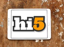 Hi5 social networking site logo royalty free stock images
