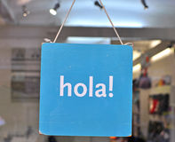 Hi in spanish Stock Photography