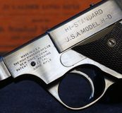 Hi Standard Pistol Close Up Royalty Free Stock Photography