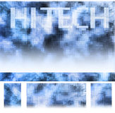 Hi-tech. Set of hi-tech theme design elements Royalty Free Stock Photo