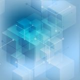 Hi-tech abstract geometric blue background Royalty Free Stock Photos