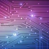 Hi-tech achtergrondcomputersysteemraad Royalty-vrije Stock Afbeelding
