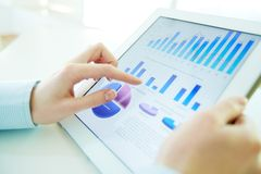 Hi-tech analyse Royalty-vrije Stock Afbeeldingen