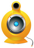 Hi-tech audio speaker vector illustration Royalty Free Stock Image