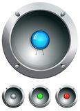 Hi-tech audio speaker vector illustration Royalty Free Stock Images