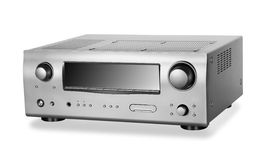 Hi-Tech AV receiver. On white background. Clipping Path stock images