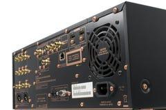 Hi-Tech AV receiver's connectors Stock Photography