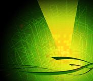 Hi-tech backdrop. Abstract design, green background for technology purposes vector illustration