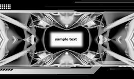 Hi-tech backdrop. Abstract design, black and white background with space for text insertion Stock Photography