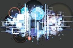 Hi-tech background Stock Photography