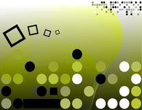 Hi-tech background. Abstract backdrop design; with dots, green colors Royalty Free Stock Photos