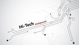 Hi-tech background. Hi tech background with black semiconductor tracks. EPS10 Stock Images