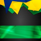Hi-tech background with Brazilian flag Stock Images