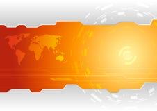 Hi-tech behangmalplaatje Stock Afbeelding