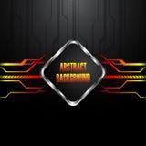 Hi-tech black background. Clip-art Stock Photos