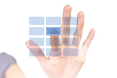 Hi-tech blank button. Security virtual keypad. Royalty Free Stock Photos