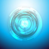 Hi-tech blue background. Clip-art Stock Photo