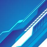 Hi-tech blue background Stock Photo