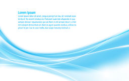 Hi tech blue wave design background. EPS 10 vector Stock Photography