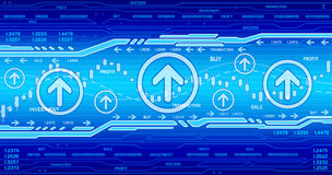 Hi-tech business background Stock Photo