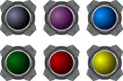 Hi-tech buttons Stock Photography