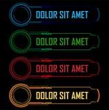Hi-tech buttons stock illustration