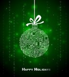 Hi-tech Christmas background Royalty Free Stock Images