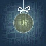 Hi-tech christmas tree toy Royalty Free Stock Photo