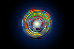 Hi-tech circle of technology background design. Royalty Free Stock Images