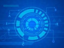 Hi-tech circle for Technology concept. Stock Photos