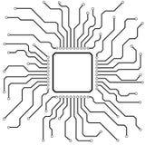 Hi-Tech Circuit Board. Illustration of a hi-tech circuit board Stock Images