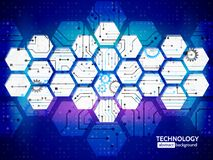 Hi-tech circuit board vector illustration vector illustration