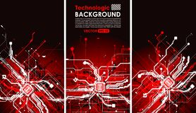 Hi tech circuits fantastic absract background cyberpunk cyber pay Royalty Free Stock Photos